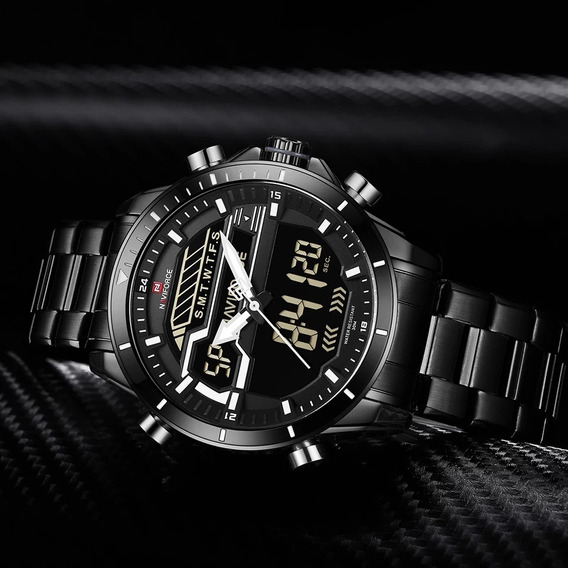 Relógio Naviforce Esportivo Militar Digital Multifunção