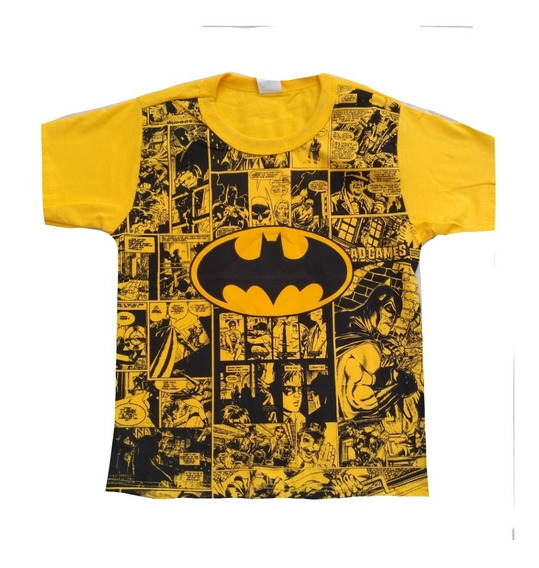 Kit Atacado C/5 Pçs Camiseta Infantil Menino Personagem