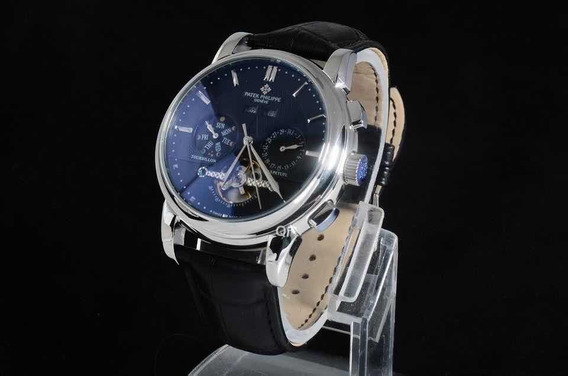 Reloj Patek Philippe Espera Azul Correa Cuero Negro