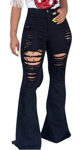 Pantalones Acampanados Con Cremallera Con Boton Para Mujer Mercado Libre
