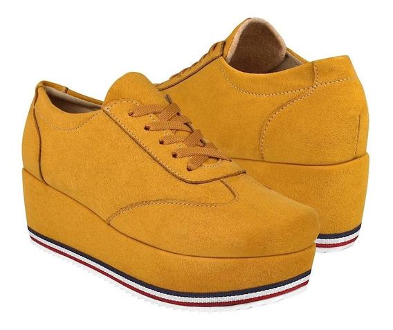 Zapatos Casuales Para Dama Stylo 6005 Mostaza
