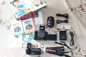 Canon T3i + 18-55mm + Grip + 2 Baterias + Sd E Acessórios
