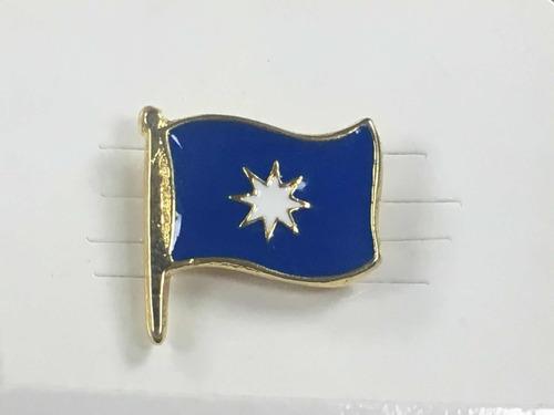Pin Bandera Wuñelfe O Mapuche O Magallanica O Rapanui Chile