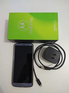 Celular Motorola Moto G6 Plus 64 Gb Azul Nimbus Dual Usado
