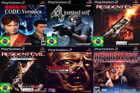 Promoção Coleção 6 Jogos Resident Evil Ps2 Patch