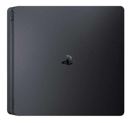 Imagem 1 de 3 de Sony PlayStation 4 Slim 1TB Standard cor  preto onyx