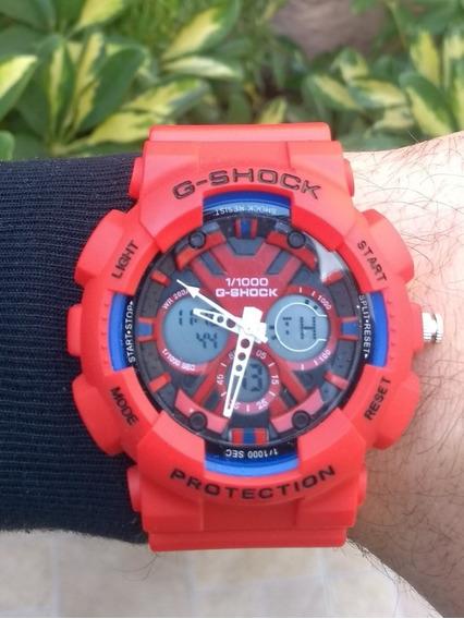 Relógio Masculino Vermelho Digital Analógico A Prova D
