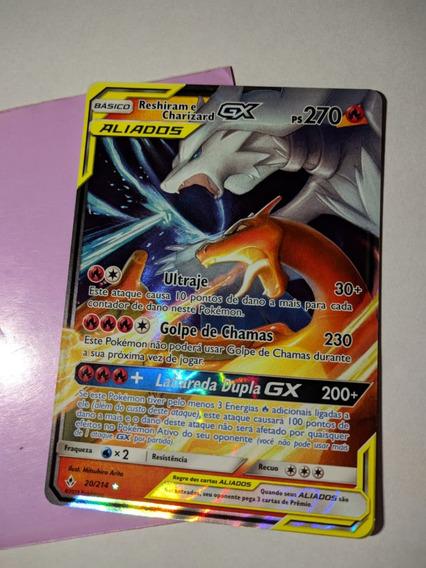 Carta Pokemon Reshiram E Charizard- Gx 270ps