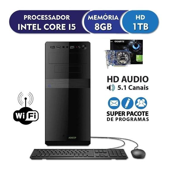 Pc Cpu Gamer Intel Core I5 + 8gb Ram +hd 1tb +vga 2gb+ Wifi
