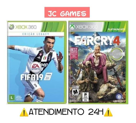 Fifa Legacy Edition + Far Cry 4 Xbox 360 - Mídia Digital