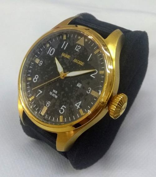 Relógio Unissex Surf More 3528270m Dourado Vltrine Garantia