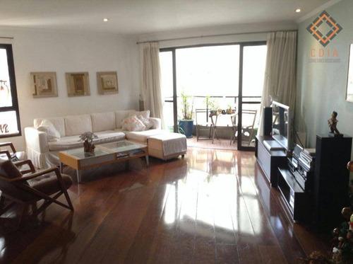 Apartamento Com 4 Dormitórios À Venda, 178 M² Por R$ 1.490.000,00 - Campo Belo - São Paulo/sp - Ap25184