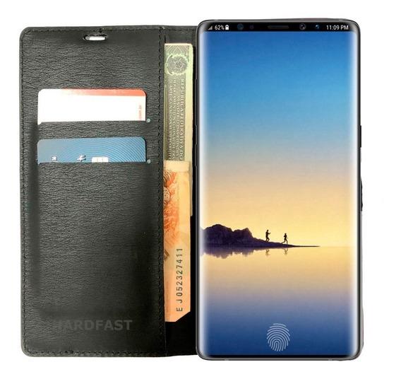 Capa Carteira Galaxy Note 9 Capinha Couro Pelicula Hidrogel