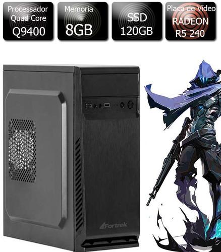 Pc Gamer Core2 Quad 8gb Ssd 120gb Radeon R5 240 1gb Gddr3