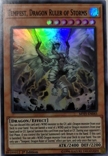 1st Edition Yu-Gi MYFI-EN045 Dragon Ruler of Storms Super Rare x3 Tempest