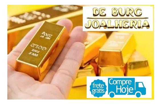 Barra De Ouro 18k 12g Certificado De Pureza - Cartão Novo