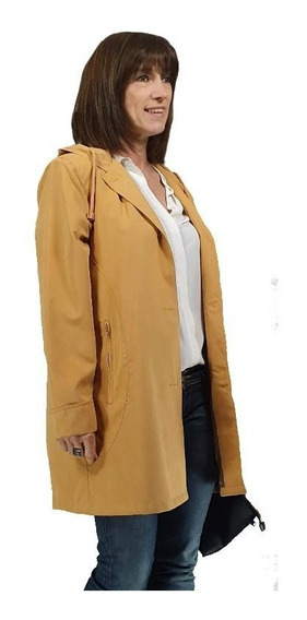 Piloto Impermeable Mujer Microfibra Capucha Talles Grandes