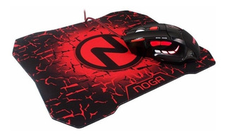 Combo Mouse Gamer Noga 7 Botones + Mouse Pad Gamer