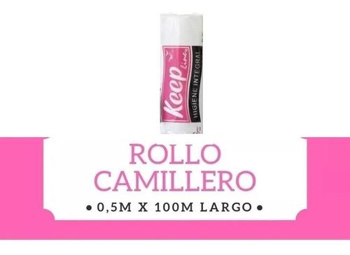 Papel Cubre Camillas Rollo Camillero Blanco X 100 Mts