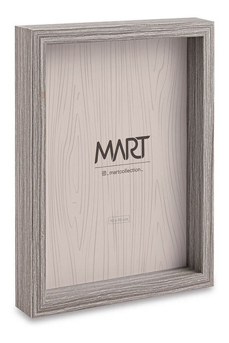 Imagem 1 de 1 de Porta Retrato 10x15 Mdf Cinza 11253 Mart Presentes
