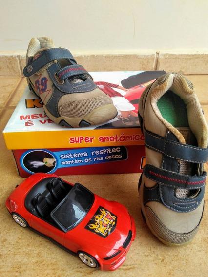Sapatênis Kidy Infantil Tamanho 30 +carro Vermelho De Brinde