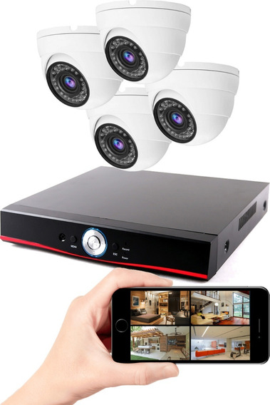 Dvr Gravador De Vídeo 1080p + 4 Câmeras De Vigilância Multhd