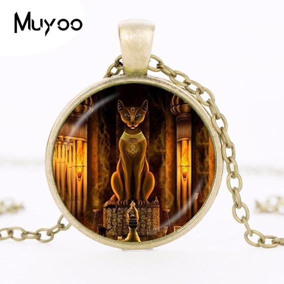 Corrente Deusa Do Gato Egípcio - Bastet-envio Hoje