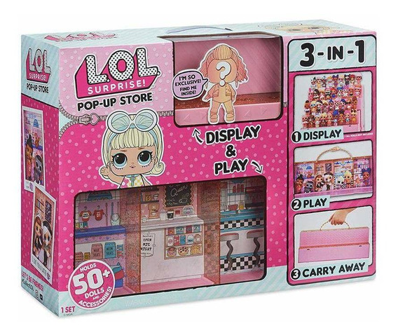 Maleta Playset 3 Em 1 Lol Pop Up Store Candide Original