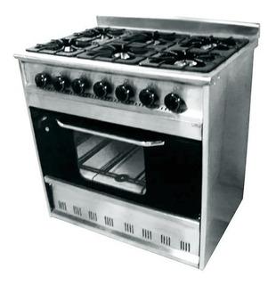 Cocina Industrial Tecnocalor 6 H Horno Pizzero Puerta Visor