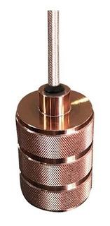 Decorativo Colgante Cilindrico Bulbo E27 Oro Rosado
