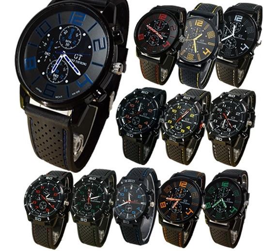 10 Relojes Gt Lote Mayoreo Hombre Deportivo Moda A687