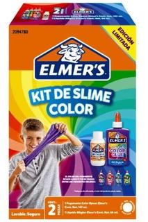 Kit De Slime Color Elmer´s X 1 Pegante 1 Liquido Mágico
