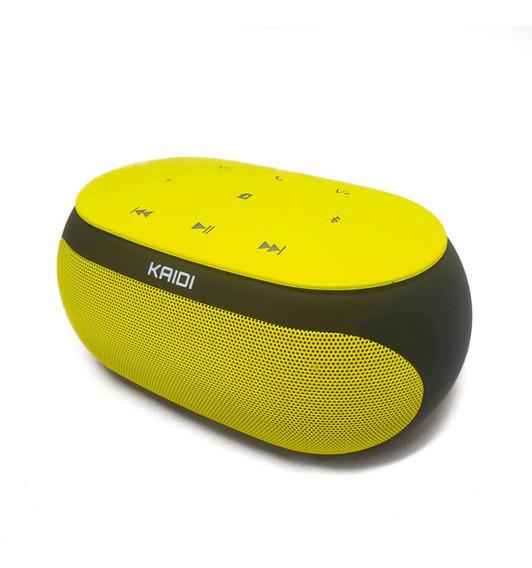 Caixa Som Kaidi Bluetooth Touch Com Aux Cartão Tf