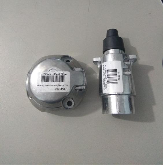 Plug Femealuminio Conectores Reboque Carretinha Em Alumínio