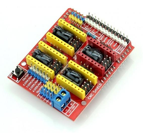 Placa Cnc Shield V3 Arduino Para Impressora 3d - Cnc