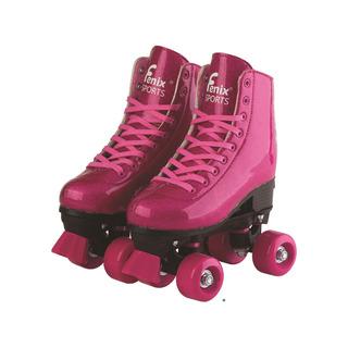 Patins Roller Skate 4 Rodas Ajustável 35 A 38 Brilho Fenix