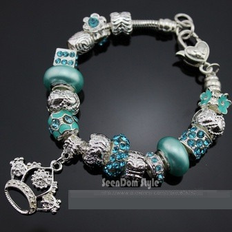 Pulseira Luxo Bracelete Feminino Coroa Pandora Moda Europeia