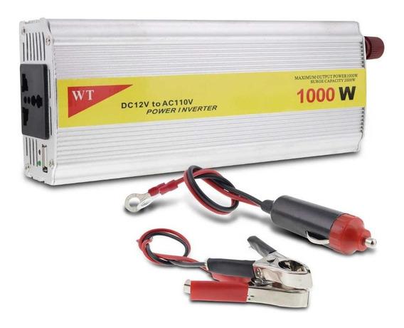 Conversor De Voltagem Automotivo 1000w 12v Para 110v