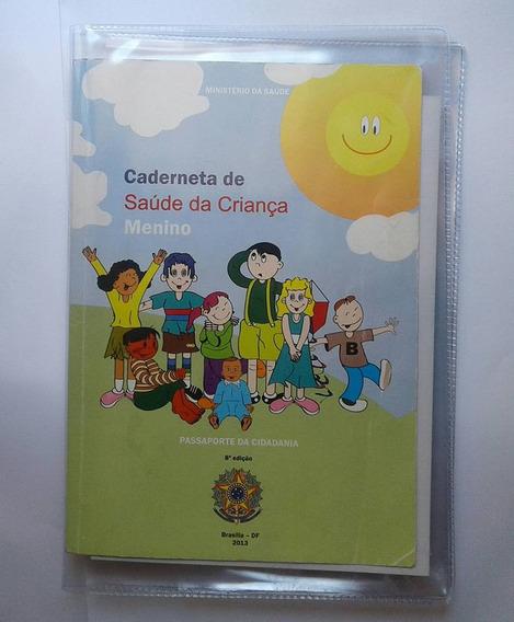 Kit 2 Capas Caderneta Vacinação, Caderneta Da Saúde