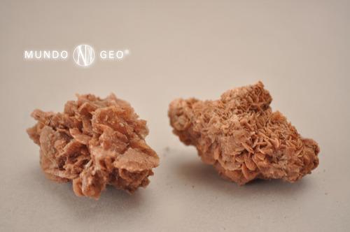 Piedra Rosa Del Desierto Naranja Chica En Bruto