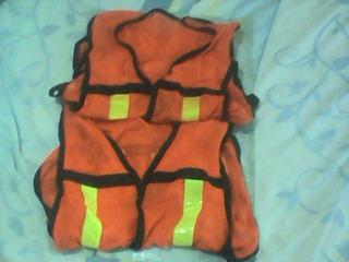 Dos Chalecos Fluorescente Naranja Con Reflejantes Remate