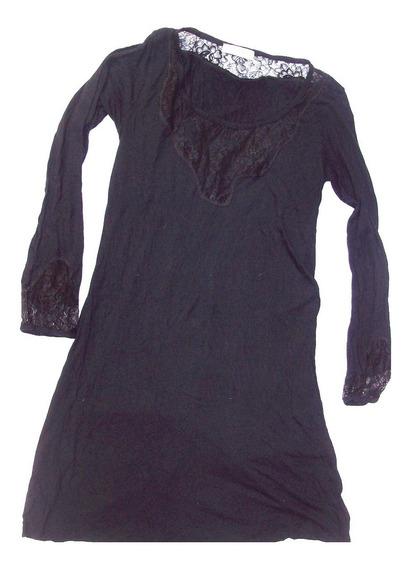 Aurojul-vestido O Usar C/calzas Modal Y Encaje