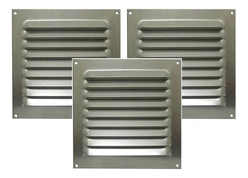 Kit 3 Grades Quadrada De Alumínio Itc 20x20 Cm Motohome