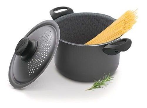 Imagen 1 de 8 de Olla Tramontina Pasta Spaghetti 24 Cm 7.50 Litros Teflon