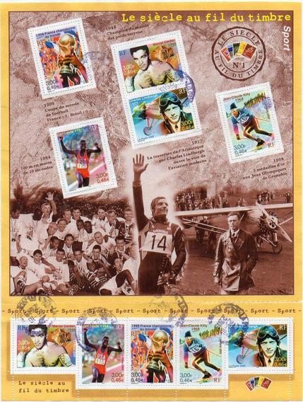 Francia 2000 Le Siècle Au Fil Du Timbre. Deportes Bloc Usado