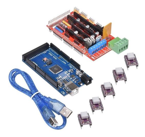 Kit Ramps 1.4 Mega 2560 E 5 Drivers A4988 Impressora 3d Cnc