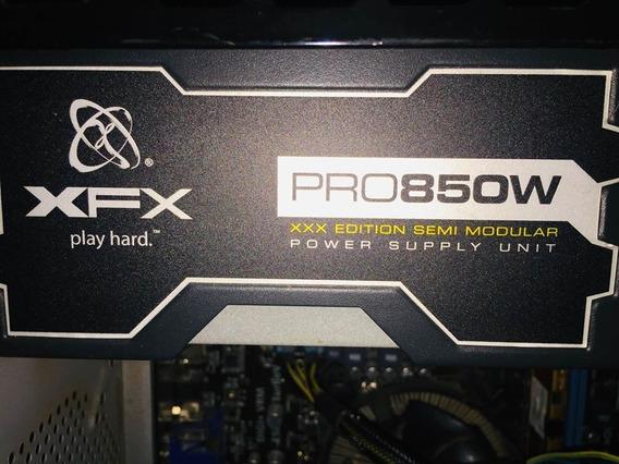 Fonte 850w Xfx Black Edition Semi-modular