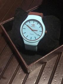 Relógio adidas Azul Com Marrom