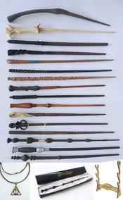 Kit 3 Varinhas Harry Potter (a Escolher) +1 Colar+ Expositor