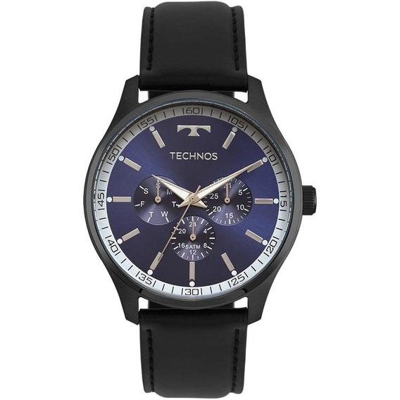 Relógio Technos Masculino Ref: 6p29ajp/2a Multifunção Black
